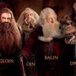 The Hobbit: dwarves identification chart.