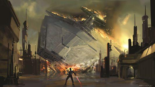 StarWarsArtConcept_Amy Beth Christenson_Star Destroyer Crash The Force Unleashed video game_Digital