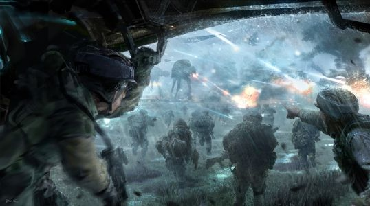 StarWarsArtConcept_Richard Lim_Rebel Troopers_Concept art for Star Wars First assault proposed video game_Digital