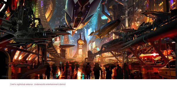 StarWarsArtConcept_Ryan Church_Coruscant underworld Entertainment Corridor_Concept art for Star Wars 1313 proposed video game_digital