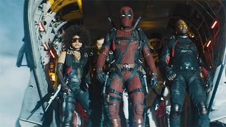 Deadpool fights Cable (trailer): now, that's just lazy writing.