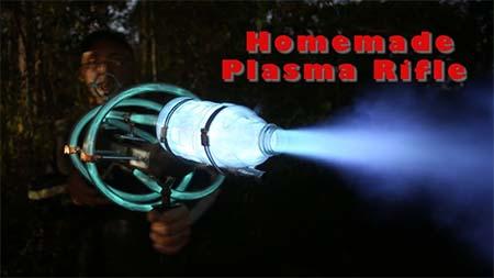 Homemade steampunk plasma gun.