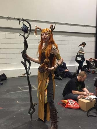 Wood elf at Comic-con London.