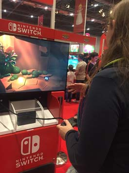 Nintendo Switch at Comic-con London.