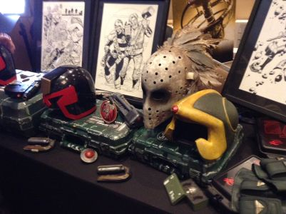 Lawgiver IV Con, various props from Search Destroy and Judge Minty fan films, 26May18