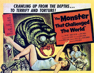 The Monster That Challenged The World (1957) (Movie Retrospective by Mark R. Leeper).
