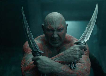 Will Dave Bautista be as blue and scary as this at London Comic Con?
