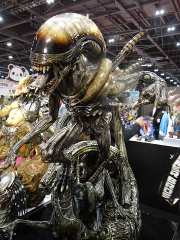 Alien eats.