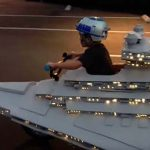 Star Wars: Star Destroyer Halloween costume wins – just wins.