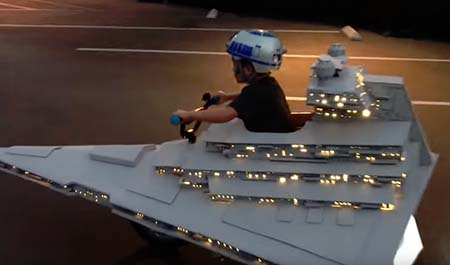 Star Wars: Star Destroyer Halloween costume wins - just wins.