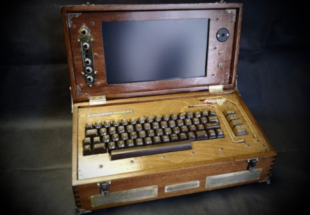 Steampunk Commodore 64 laptop sizzles.