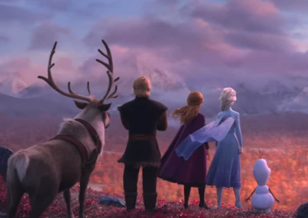 Frozen 2 (animated fantasy movie trailer).
