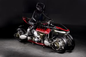 Motorbike that transforms into flying jet bike, S.H.I.E.L.D.-style.