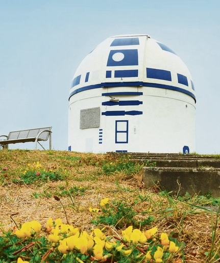 German observatory camouflaged as R2-D2!