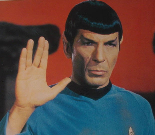 Leonard Nimoy, meet Leonard Nimoy, in Star Trek movie (deep fake video).