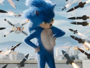 Sonic the Hedgehog movie (trailer with added Jim Carrey).