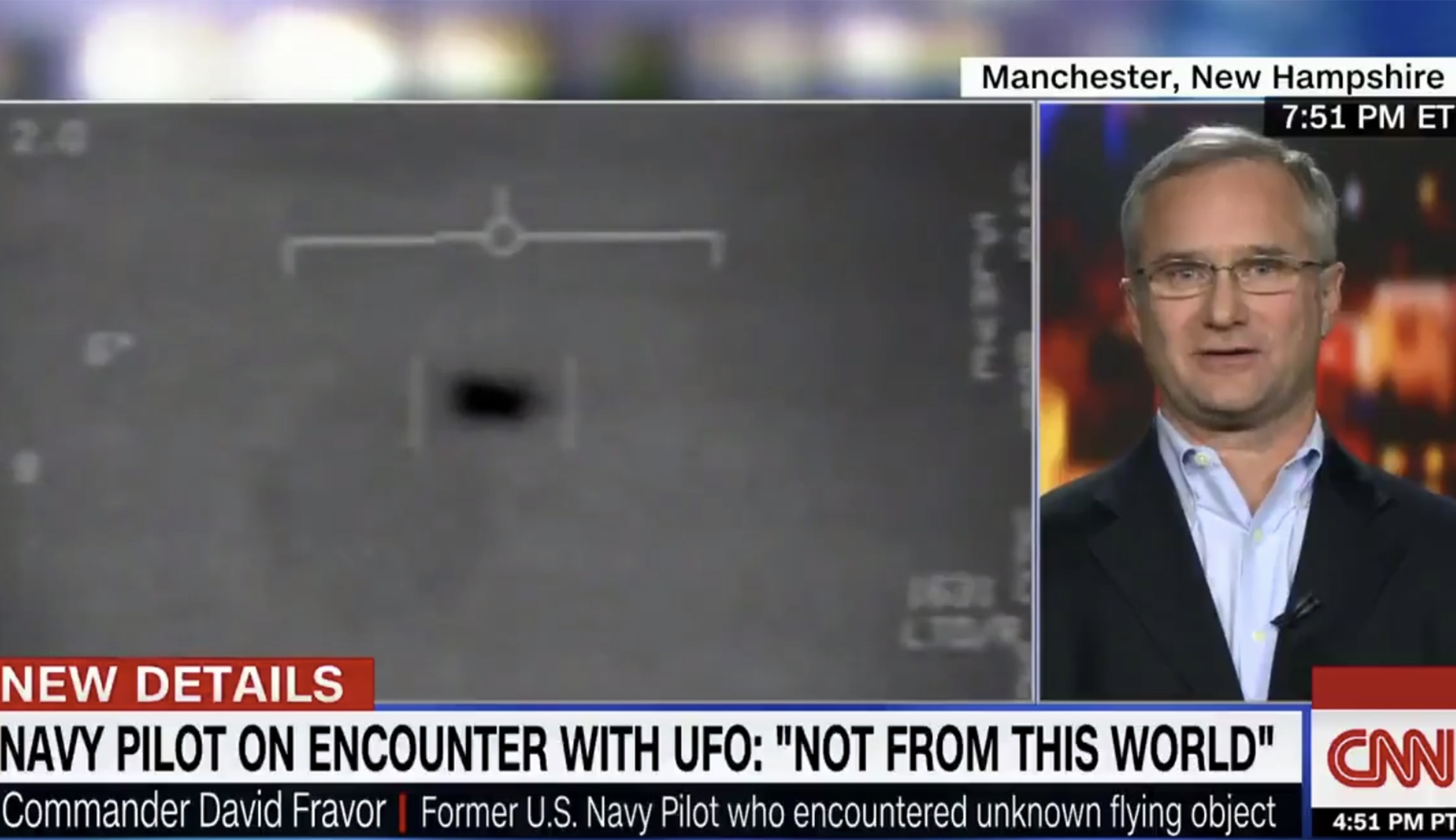 Former U.S. Navy pilot interviewed about the Tic Tac Nimitz UFO (weird news).