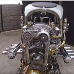 Steampunk hot rod: burns all competition!