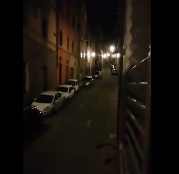 Locked-down Italians sing from their windows at night (weird news).