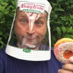 Repurpose a Krispy Kreme Doughnuts Box into a COVID face shield (MODS of delight).