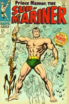 Drawing Namor: Marvel comic-book illustration (tutorial: video).