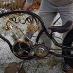 Steampunk air-powered motorcycle (video).