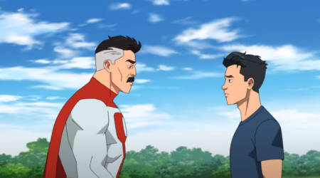 Invincible (animated superhero TV series on Amazon Prime: trailer) (from Robert 'Walking Dead' Kirkman).