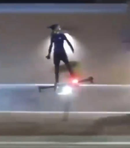 Green Goblin gets real on U.S streets (video).